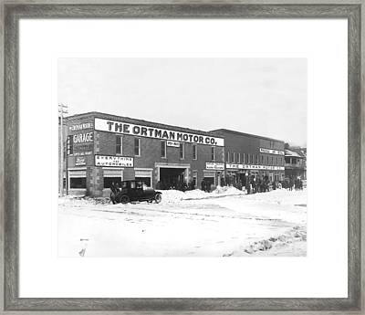 Ortman Motor Company Framed Print by Underwood Archives