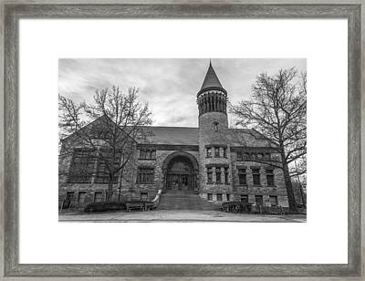 Orton Hall Osu Black And White  Framed Print