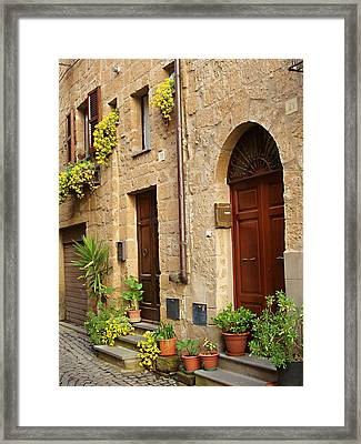 Orvieto Homes Framed Print by Ellen Henneke