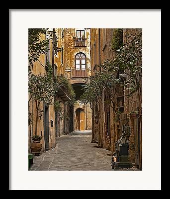Italian Street Framed Prints