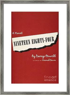 Orwell: Cover Of 1984 Framed Print