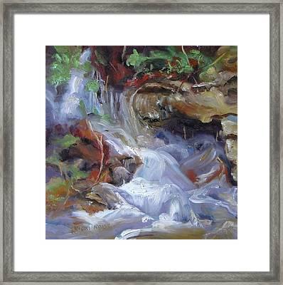 Osage Creek Waterfall Framed Print