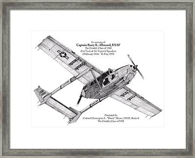 Oscar Deuce Custom Three Framed Print by Dale Jackson
