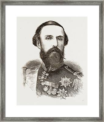 Oscar II., King Of Sweden And Norway Framed Print by Litz Collection