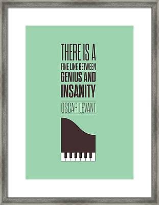 Oscar Levant Inspirational Typography Quotes Poster Framed Print