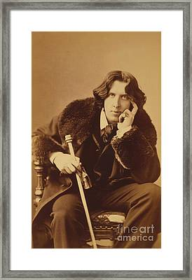 Oscar Wilde 1882 Framed Print