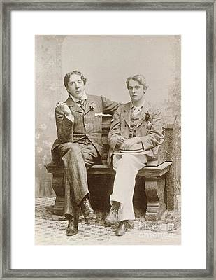 Oscar Wilde And Alfred Douglas, 1893 Framed Print by British Library
