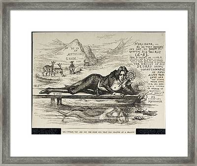 Oscar Wilde As Narcissus Framed Print