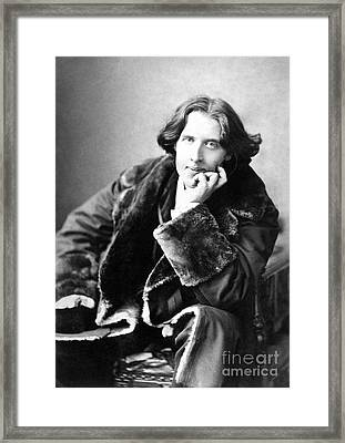 Oscar Wilde In His Favourite Coat 1882 Framed Print