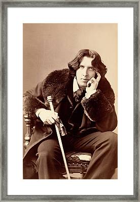 Oscar Wilde Framed Print by Library Of Congress