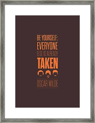 Oscar Wilde Quote Typographic Art Print Poster Framed Print