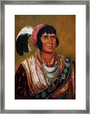 Osceola The Black Drink A Warrior Of Great Distinction By John Travisano After George Catlin Framed Print by John Travisano