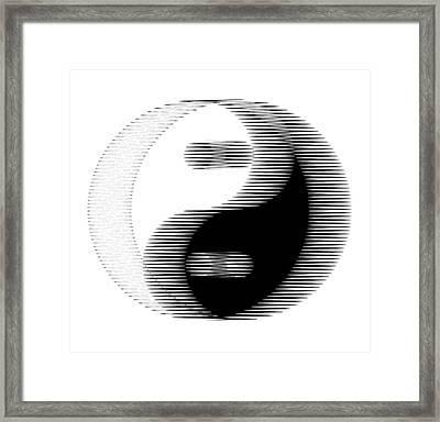 Oscilloscopic Yin Yang Framed Print