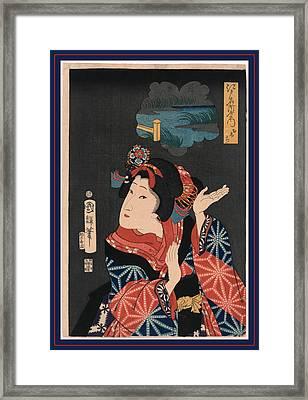 Oshichi The Young Maiden Oshichi. Utagawa, Kuniteru Framed Print