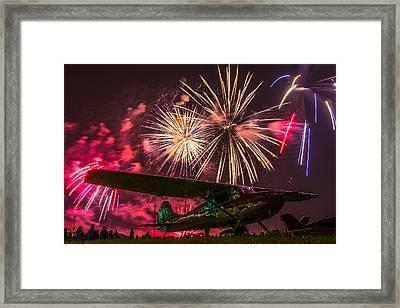 Oshkosh 2014 Fireworks Finale Framed Print by Greg Drawbaugh