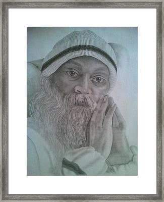 Osho Framed Print by Milind Badve