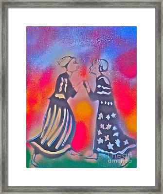 Oshun And Yemaya Framed Print by Tony B Conscious