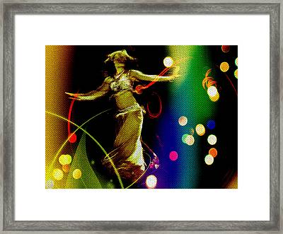 Oshun Dancing Framed Print by Michelle Dallocchio