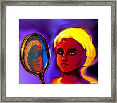 Oshun -goddess Of Love Framed Print by Carmen Cordova