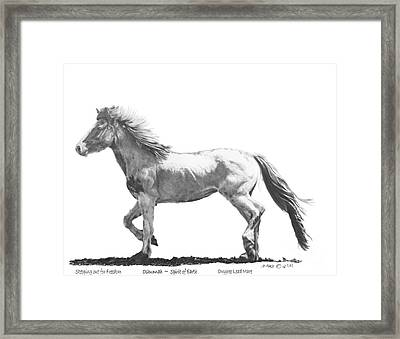 Oshunnah Stepping Out For Freedom Framed Print by Marianne NANA Betts