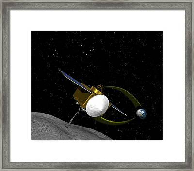 Osiris-rex Asteroid Mission Framed Print by Nasa/goddard/university Of Arizona