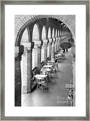 Oslo Cafe - Black And White Framed Print by Carol Groenen