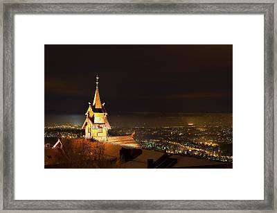 Oslo Evening Framed Print by Aaron Bedell