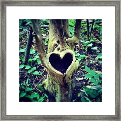 #oslo #landart #kunst  #nature #heart Framed Print