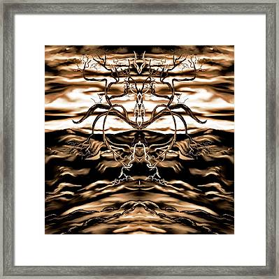 Framed Print featuring the digital art Osmar - The Lord Of The Second Dimension by Yolanda Raker