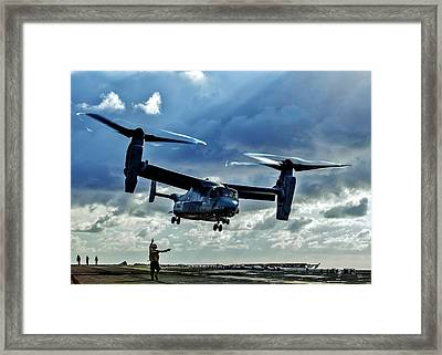 Osprey Approach Framed Print by Benjamin Yeager