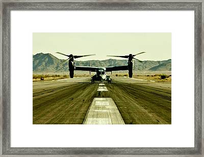 Osprey Takeoff Framed Print by Benjamin Yeager