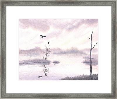 Ospreys At Dawn Framed Print by Anna Bronwyn Foley