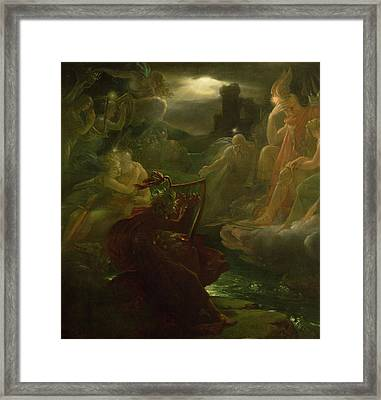 Ossian Conjuring Up The Spirits  Framed Print by Francois Pascal Simon Gerard