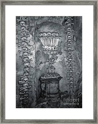 Ossuary Sedlec - Chalace Framed Print by Gregory Dyer