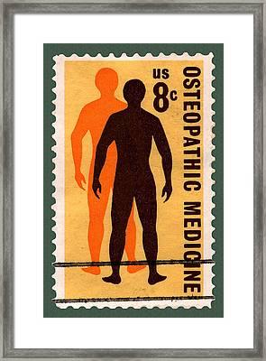 Osteopathic Medicine Stamp Framed Print