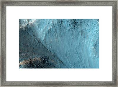 Osuga Valles Framed Print by Nasa/jpl-caltech/university Of Arizona