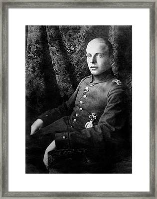 Oswald Boelcke Framed Print by Library Of Congress