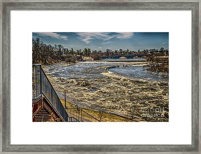 Oswegatchie River Flooding Framed Print
