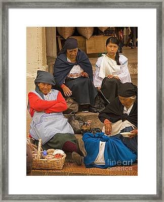 Otavalo Women Framed Print
