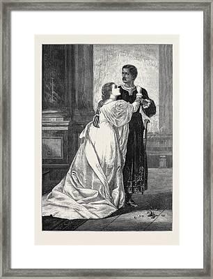 Othello And Desdemona Framed Print