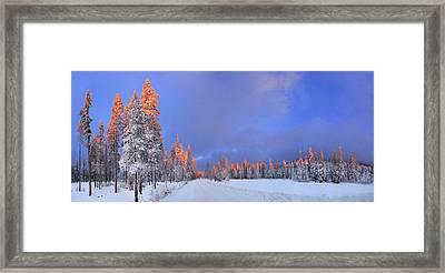 Other Side Of A Winter Sunset Framed Print