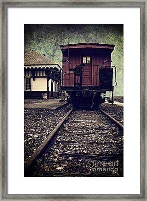 Other Side Of The Tracks Framed Print by Edward Fielding