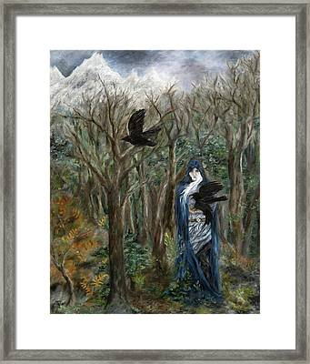 The Raven God Framed Print