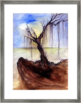 Otonos Sin Ella Framed Print by Ruben Santos
