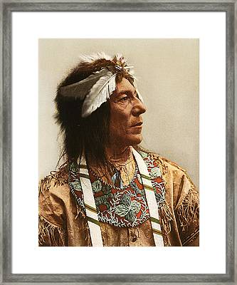 Otossaway Chief Of The Ojibwas 1903 Framed Print by Unknown