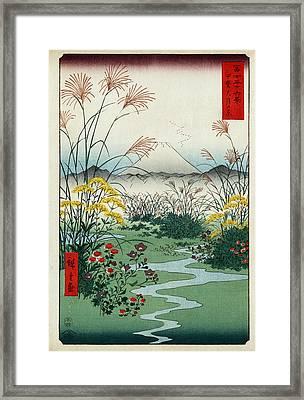 Otsuki Fields In Kai Province Framed Print