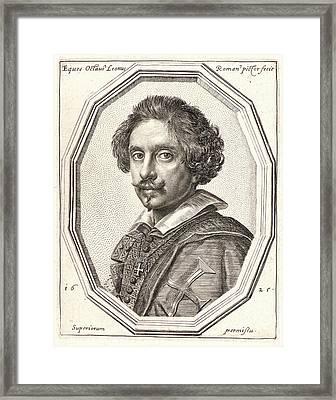 Ottavio Mario Leoni Italian, 1578 - 1630. Self-portrait Framed Print by Litz Collection