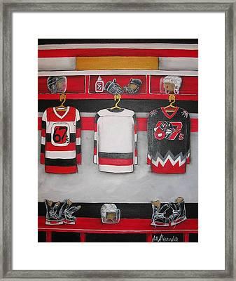 Ottawa 67's Player Locker Room Framed Print by Jill Alexander