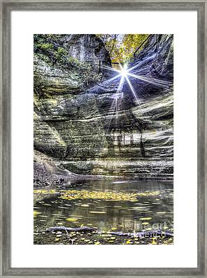 Ottawa Canyon At Starved Rock Framed Print by Twenty Two North Photography