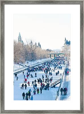 Ottawa Rideau Canal Framed Print